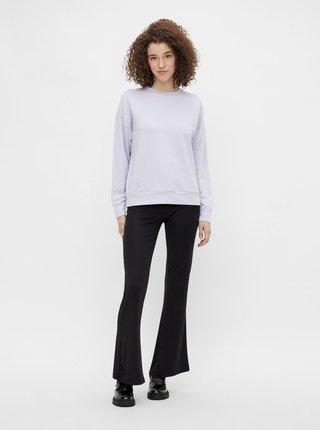 Černé flared fit kalhoty Pieces Toppy