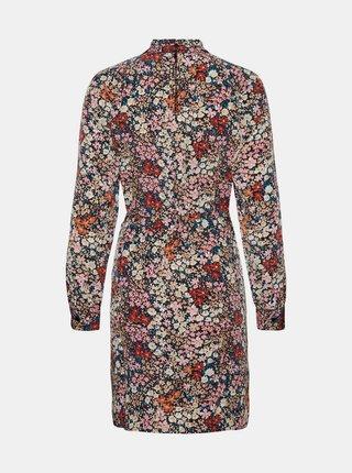 Černé květované pouzdrové šaty VERO MODA Selma