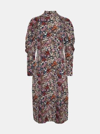 Růžové květované šaty VERO MODA Selma