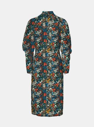 Modré květované šaty VERO MODA Selma