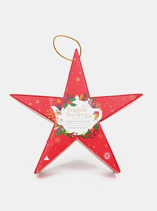 Červená vánoční čajová kolekce English Tea Shop Hvězda