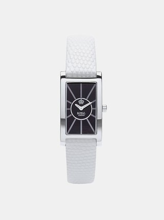 Dámské hodinky s bílým koženým páskem  Royal London 2018