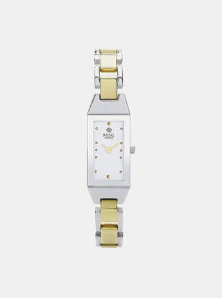Dámské hodinky s nerezovým páskem v zlaté barvě Royal London 2018