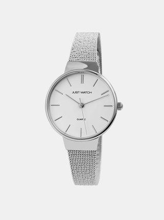 Dámské hodinky s nerezovým páskem ve stříbrné barvě  Just Watch