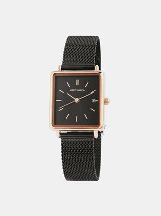 Dámské hodinky s nerezovým páskem v černé barvě Just Watch