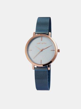 Dámské hodinky s nerezovým páskem v modré barvě Just Watch