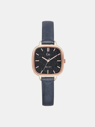 Dámské hodinky s tmavě šedým koženým páskem Girl Only