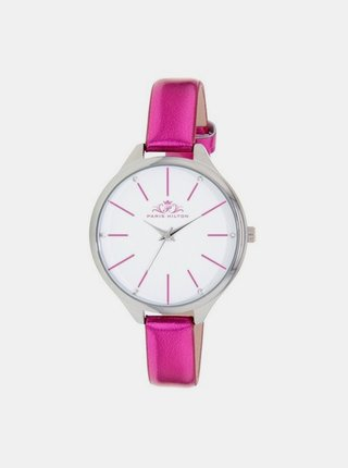 Tmavě růžové dámské hodinky Paris Hilton