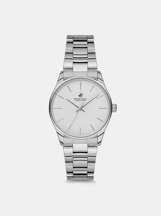 Dámské hodinky s nerezovým páskem ve stříbrné barvě  Beverly Hills Polo Club