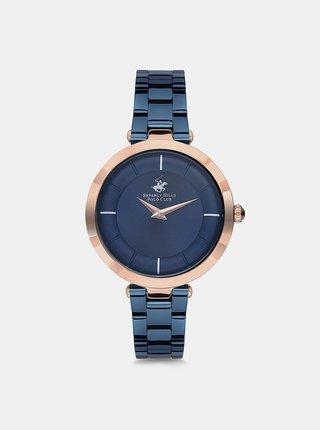 Dámské hodinky s nerezovým páskem v modré barvě  Beverly Hills Polo Club