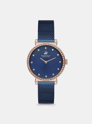 Dámské hodinky s nerezovým páskem v tmavě modré barvě  Beverly Hills Polo Club