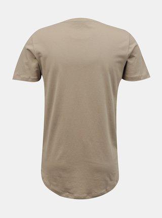 Béžové tričko s nápisom Jack & Jones