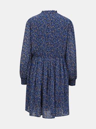 Modré květované šaty Pieces