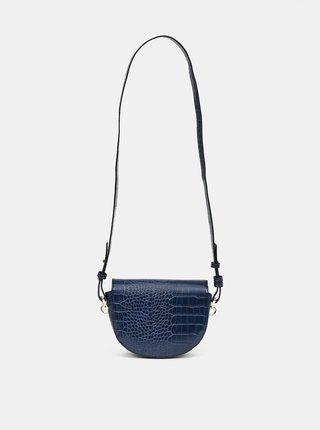 Tmavomodrá crossbody kabelka s krokodýlím vzorom ONLY Poppy