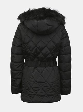 Černá zimní prošívaná bunda Dorothy Perkins Tall