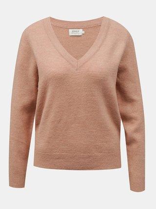 Starorůžový svetr ONLY