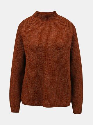 Hnědý volný svetr ONLY