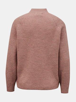 Růžový volný svetr ONLY