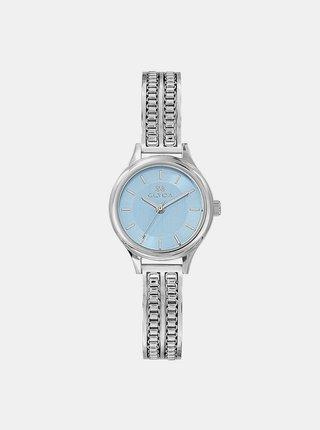 Dámské hodinky s nerezovým páskem ve stříbrné barvě Clyda