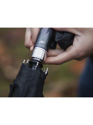 Cachemir Carbon Black pánský plně automatický deštník se zahnutou rukojetí - Černá