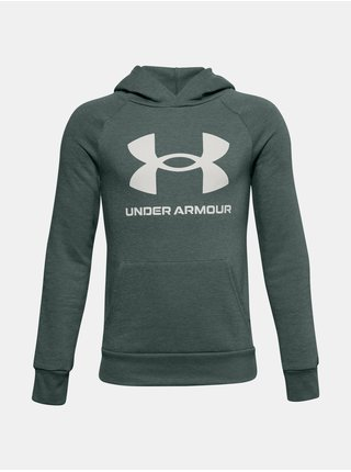 Modrá mikina Under Armour RIVAL FLEECE HOODIE