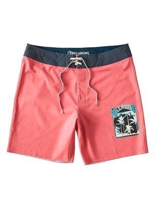 Billabong WARP PRO NEON CORAL pánské kraťasové plavky - růžová