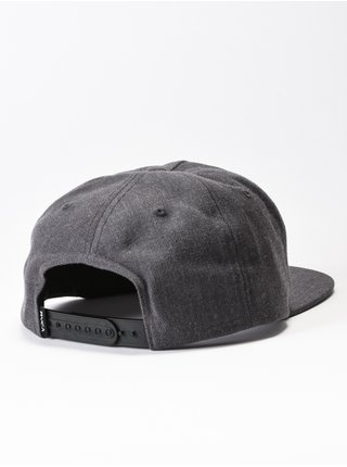 RVCA RVCA PATCH CHARCOAL HEATHER kšiltovka s rovným kšiltem - šedá