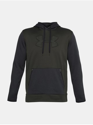 Zelená mikina Under Armour AF Textured Big Logo HD