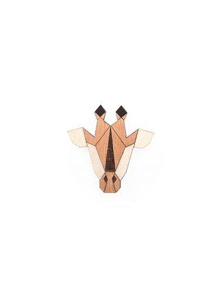 Dřevěná brož Giraffe Brooch BeWooden