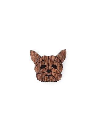 Dřevěná brož ve tvaru psa Yorkshire Brooch BeWooden