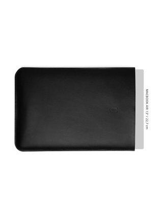 Černý obal na MacBook z pravé kůže Sleeve MacBook Air 13 BeWooden