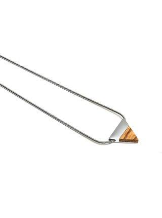 Náhrdelník s dřevěným detailem Lini Necklace Triangle BeWooden