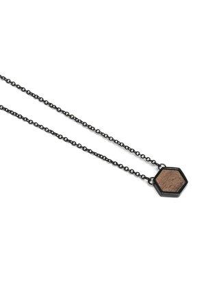 Náhrdelník s dřevěným detailem Apis Nox Necklace Hexagon BeWooden