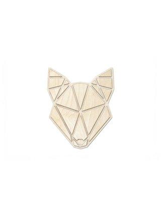 Dřevěná dekorace na zeď Wolf Polygon BeWooden