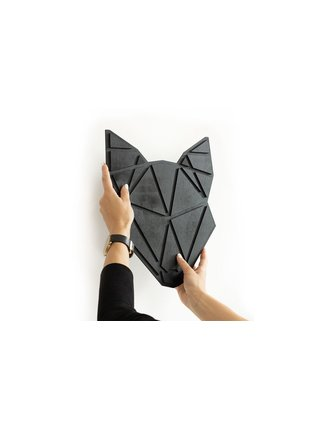 Dřevěná dekorace na zeď Fox Nox Polygon BeWooden