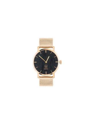 Dřevěné hodinky Sunset Watch s kovovým řemínkem BeWooden