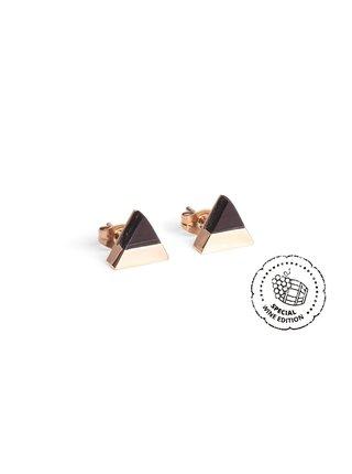 Náušnice s dřevěným detailem Red Wine Earrings BeWooden