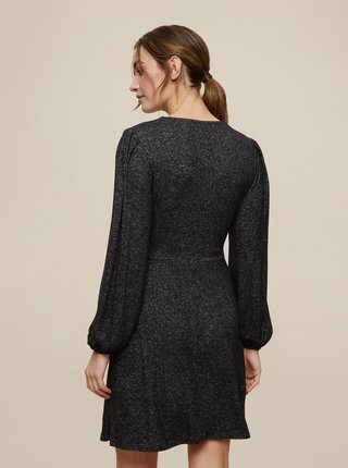 Tmavošedé svetrové šaty Dorothy Perkins