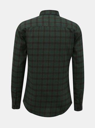 Tmavě zelená flanelová košile ONLY & SONS