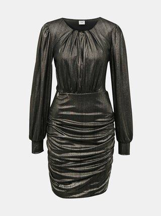 Černé lesklé pouzdrové šaty Jacqueline de Yong