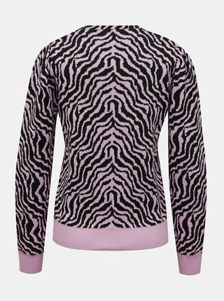 Růžový svetr se zebřím vzorem Pieces