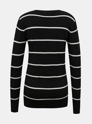 Černý pruhovaný svetr Dorothy Perkins Tall