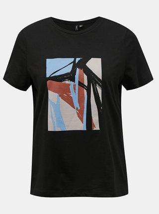 Čierne dámske tričko VERO MODA