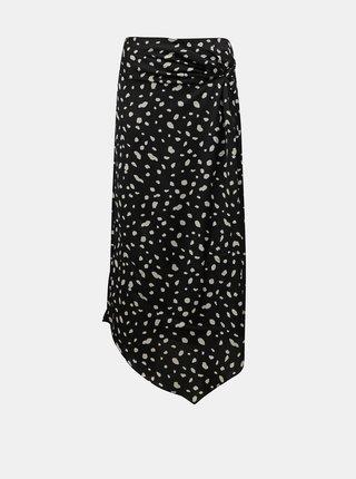 Černá vzorovaná sukně VERO MODA Calina
