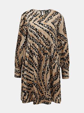 Béžové vzorované šaty VERO MODA Gaja