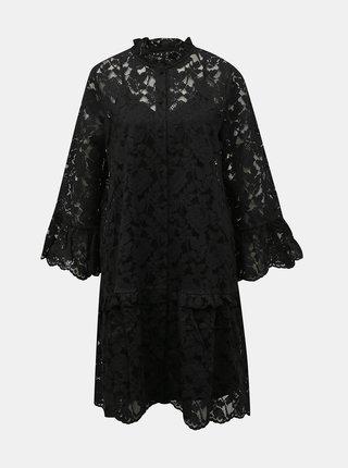 Černé krajkové šaty VERO MODA Aurelia