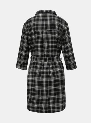 Černo-šedé kostkované košilové šaty TALLY WEiJL