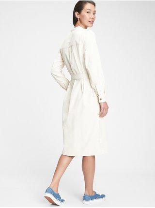 Smetanový dámský kabát GAP