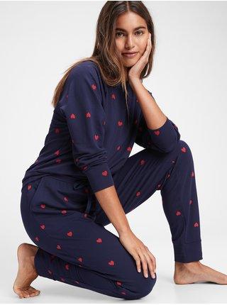 Modré dámske vzorované pyžamové nohavice GAP