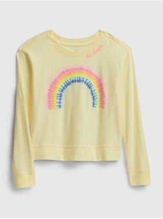 Žluté holčičí tričko GAP